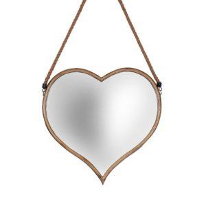 Spegel Hjärta Antikmässing