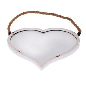 Spegel Hjärta Antikvit