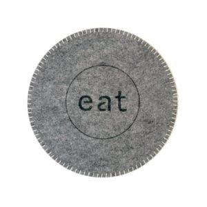 Tablett Eat filt kastsöm Grå