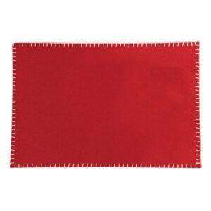 Tablett Filt kastsöm Röd