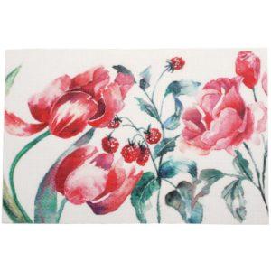 Tallriksunderlägg Blomma Röd