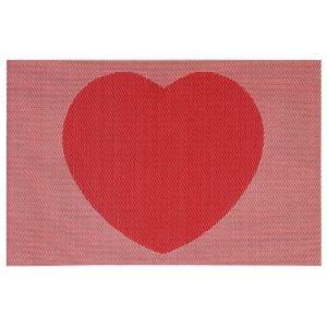 Tallriksunderlägg Hjärta Röd