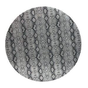 Tallriksunderlägg Läderlook Silver