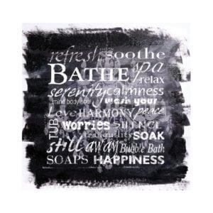 Tavla Bath Svart/Vit