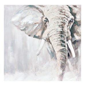 Tavla Elefant Grå