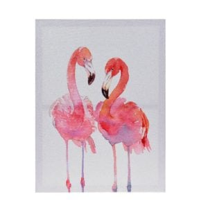 Tavla Flamingo Rosa/Vit