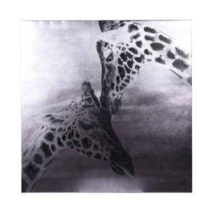 Tavla Giraff Svart/Vit