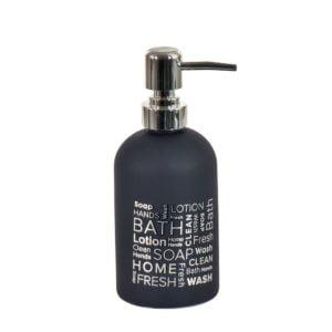 Tvålpump Bath Svart/Silver