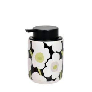 Tvålpump Blomma Vit/Svart/Grön