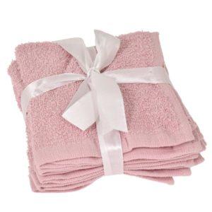 Tvättlappar 4 pack Rosa
