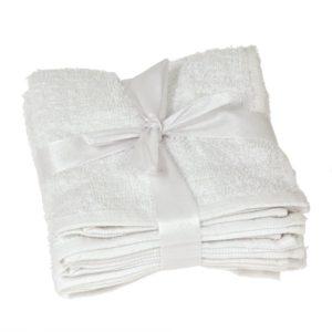 Tvättlappar 4 pack Vit